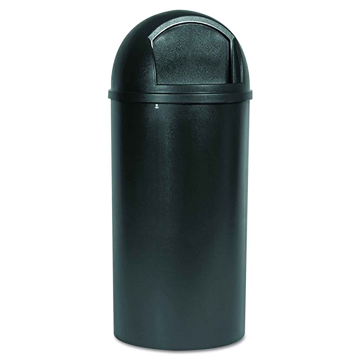 Rubbermaid Commercial 817088BRO Marshal Classic Container, Round, Polyethylene, 25gal, Brown