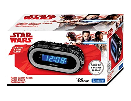 Star Wars RL140SW Radio Reloj Despertador Luminoso, Negro