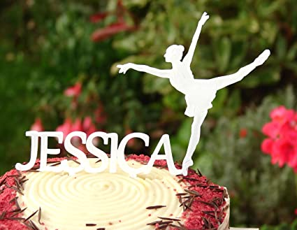 Pleasing Personalised Ballerina Birthday Cake Topper Decoration Amazon Co Birthday Cards Printable Opercafe Filternl