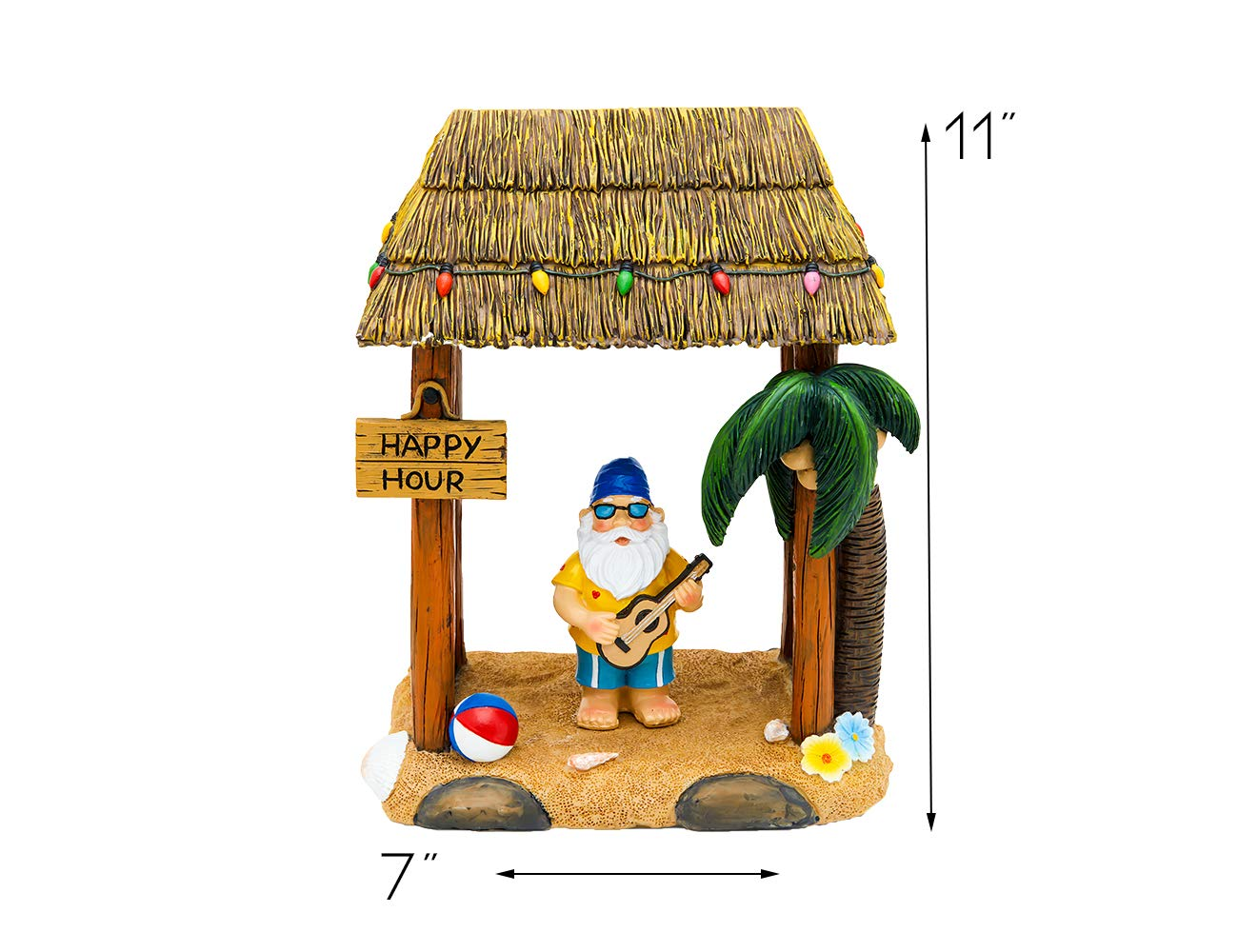 Tiki Beach Party Garden Gnome Statue Home Outdoor Garden Lawn Funny Figure Tropical Great Gifts