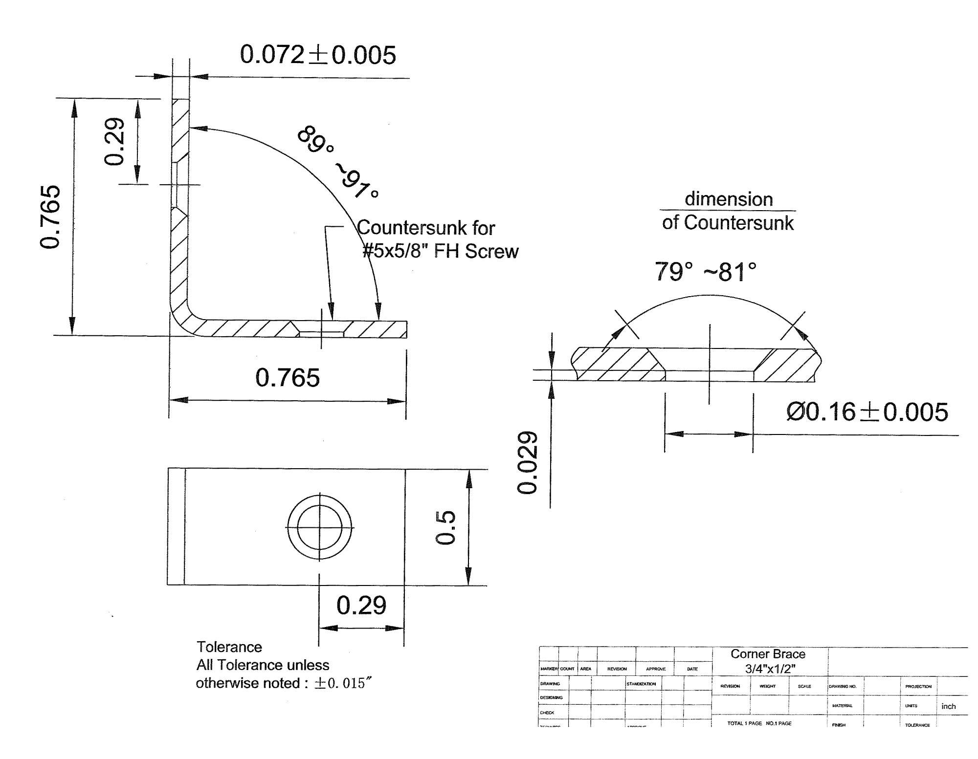 20 Pack 3/4'' x 3/4'' x 1/2'' wide 14 Gauge (5/64'' thick) | Super Heavy Duty Hot-Dip Galvanized Zinc Coated Corner Brace L Bracket | 1/2 Inch Wide, 3/4 Inch High and Long
