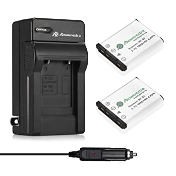 Amazon.com: Powerextra - Pack de 2 baterías recargables NP ...