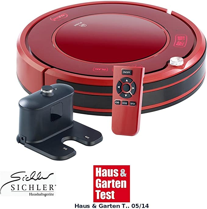 Sichler Haushaltsgeräte – Robot aspirador Friega suelos de 3550uv con base de carga, filtro HEPA & lámpara UV: Amazon.es: Hogar