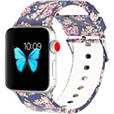 Antemart Compatible Apple Watch Band 38mm 42mm, Replacement Silicone Sport Bands Bracelet Strap Wristband Watchband Compatible with iwatch Series 3 Series 2 Series 1 Edition,Printed