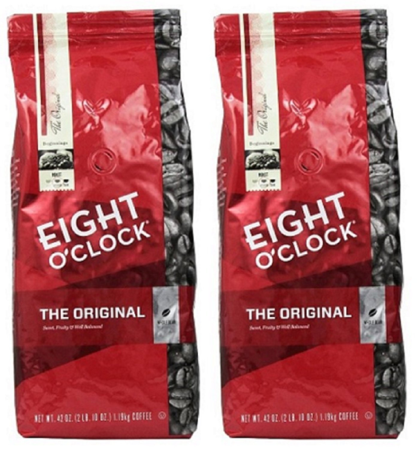 Eight O'Clock Coffee, Original Whole Bean, 42-Ounce Package, Pack of 2 by Eight O'Clock Coffee