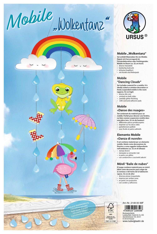Ursus 21480099F Kit de Manualidades para niños - Kits de Manualidades para niños (Kit de Manualidades para niños, Cartón, Cords, Pegatinas, Niño/niña,, ...