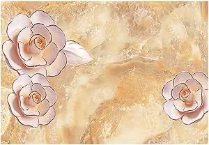 ورق جدران ثلاثي الأبعاد متعدد الالوان مصنوع من كلوريد الفينيل زهري , 2724557236146
