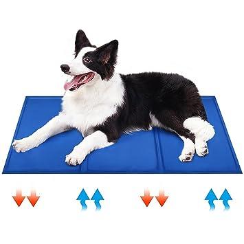 HEQUN Manta Refrigerante para Perros Manta Enfriador para Mascotas Reduce la Sensación Térmica Corporal (L): Amazon.es: Productos para mascotas