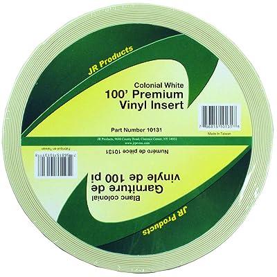 """JR Products 10131 Premium Vinyl Insert - Colonial White, 1"""" x 100': Automotive"""
