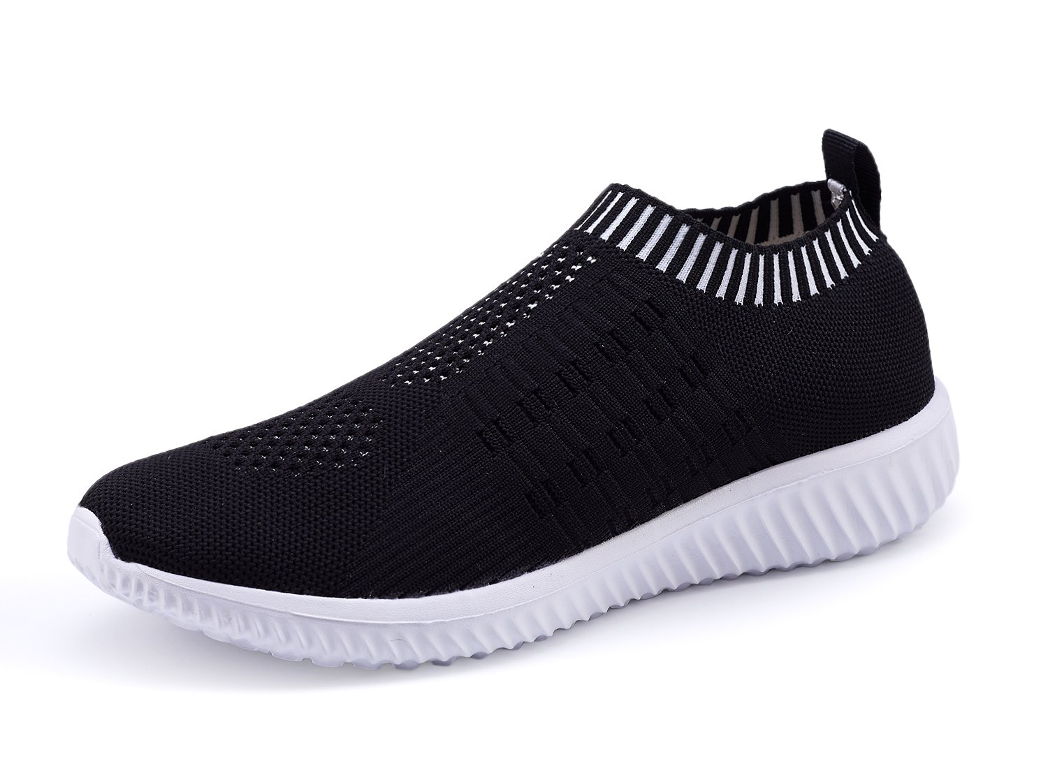 XMDR Women's Fashion Sneakers Breathable Mesh Casual Sport Shoes Comfortable Walking Shoes Black 41