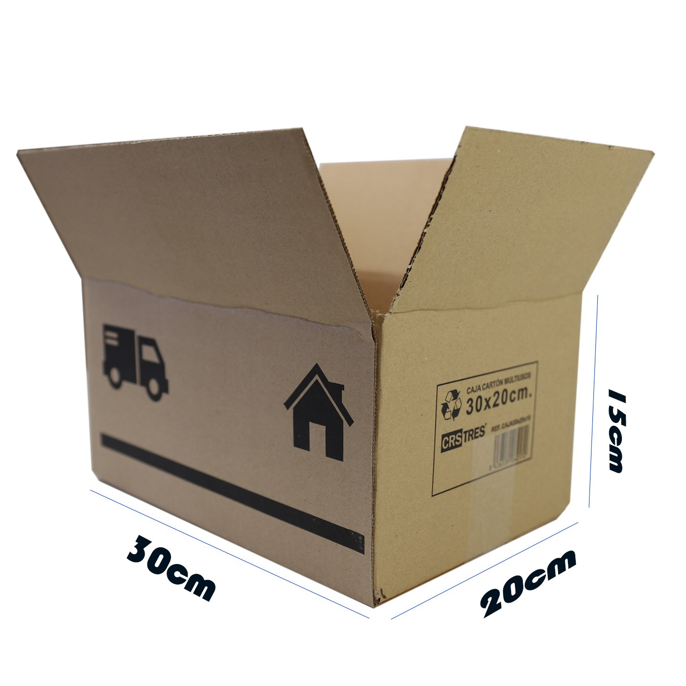 Cajas de Cartón Multiusos Pack de 15 Tamaño 300 x 200 x 150 mm - Mudanza - Embalaje - Almacenaje - Color Marrón: Amazon.es: Oficina y papelería
