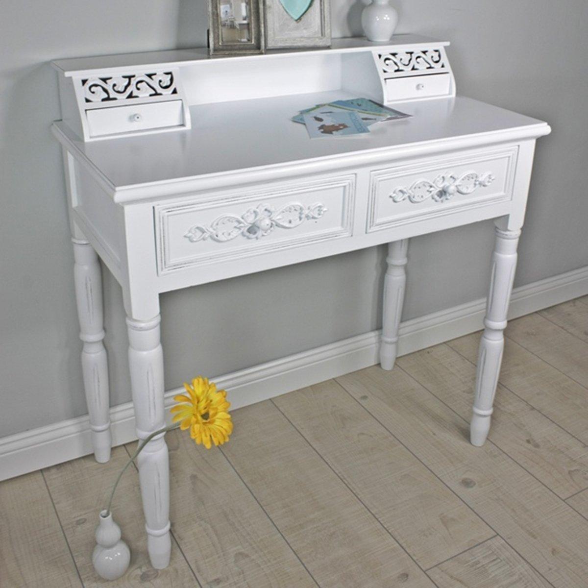 elbmöbel.de Secrétaire - console style rustique Blanc