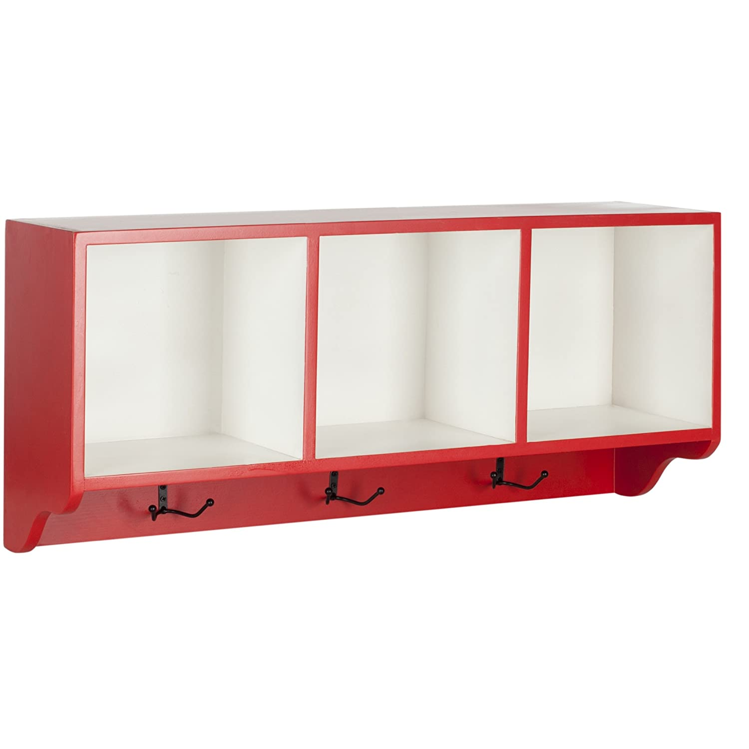 Safavieh American Homes Collection Alice Hot Red and White Wall Shelf AMH6566N