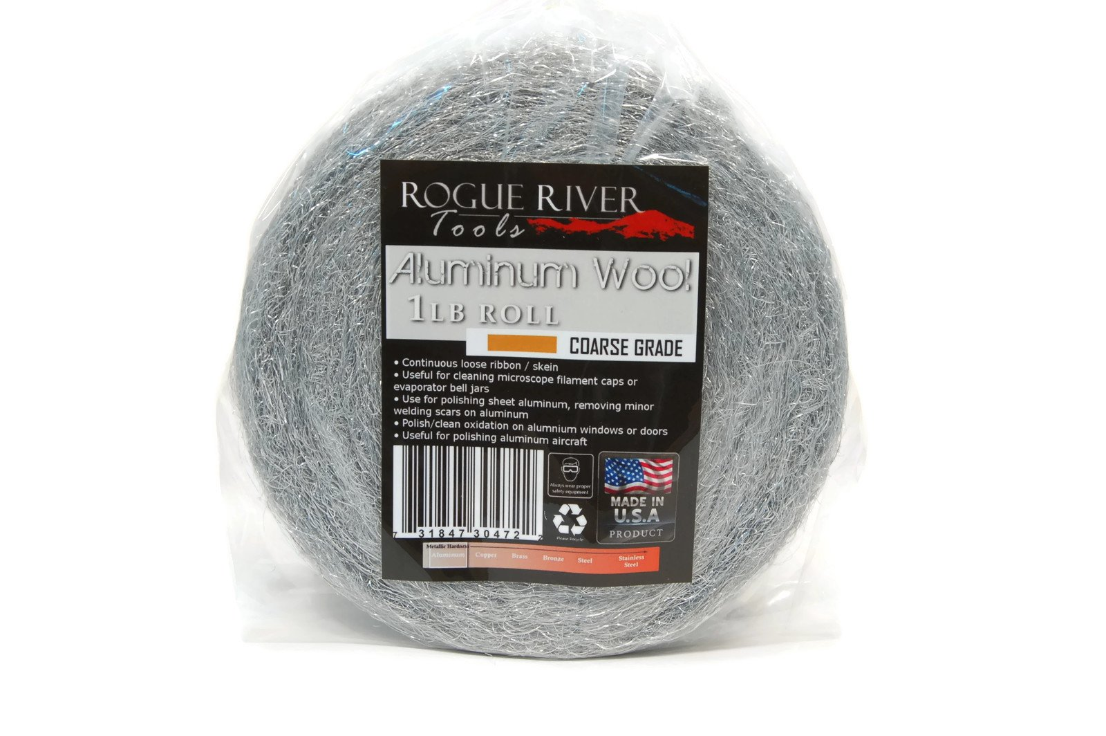 Rogue River Tools Aluminum Wool 1lb Roll - Coarse by Rogue River Tools