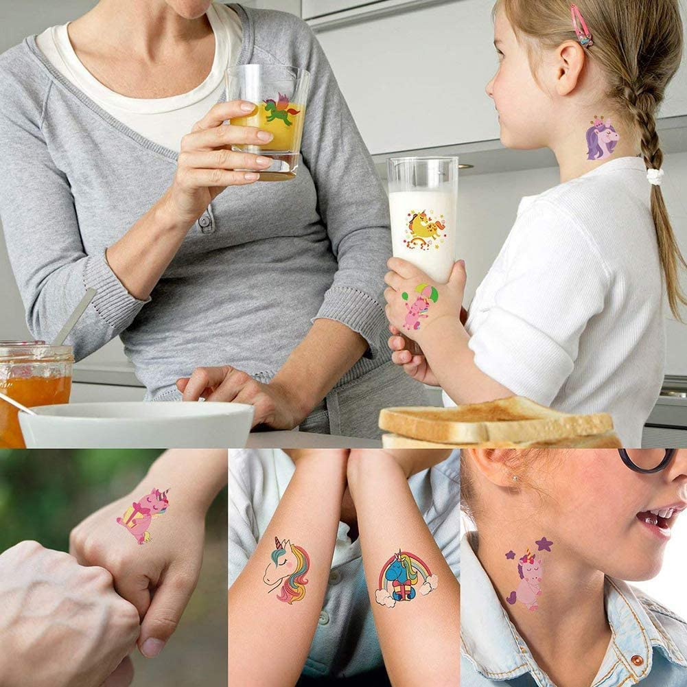Mattelsen Tatuajes Temporales Niños Niñas Animales Unicornio 20 ...