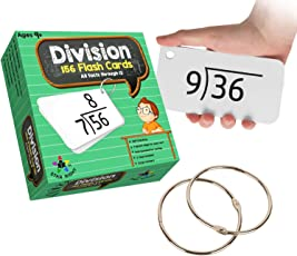 Star Right Education Math Division Flash Cards, 0-12 (All Facts, 156 Cards) With 2 Rings