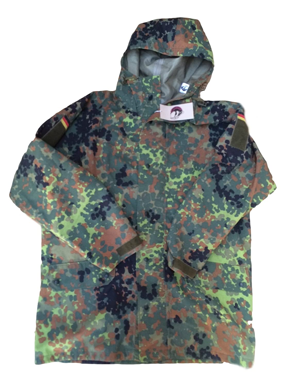 be8493e46efb8 Goretex Jacket With Hood Genuine German Military Issue Flecktarn  xxl,Zip-Front Jacket: Amazon.co.uk: Clothing