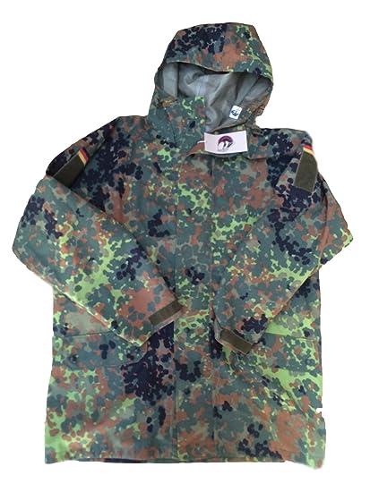 b8a866b9dc707 Goretex Jacket With Hood Genuine German Military Issue Flecktarn  xxl,Zip-Front Jacket
