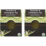 Feverfew & Lemongrass Tea - Organic Herbs - 18 Bleach Free Tea Bags (Pack of 2)