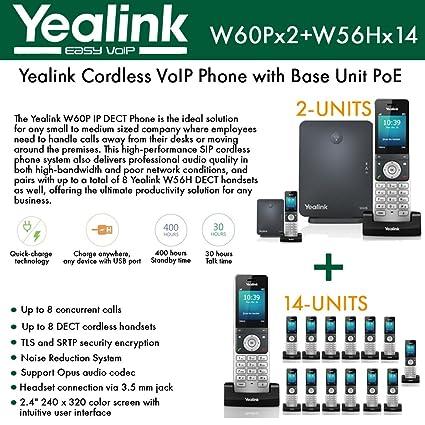 Amazon com : Yealink IP Phone W60P (2-UNITS) is a bundle of W60B