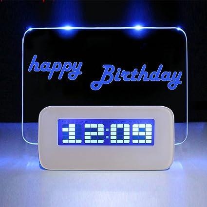 Amazon.com: Tablero de Mensajes Reloj, dinowin 6 en 1 ...
