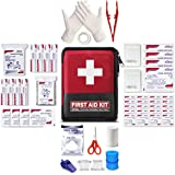 ETROL Upgrade Personal First Aid Kit (117 Piece) - Compact, Lightweight, Portable, Essential Medical Supplies for Backpacking, Emergency Survival, Camping, Home, Travel, Boat