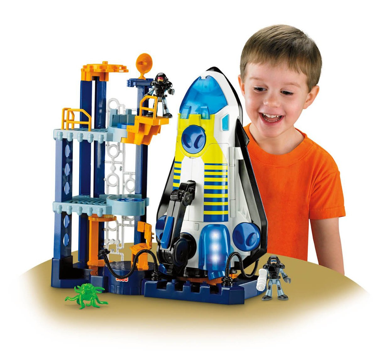 amazon com fisher price imaginext space shuttle and tower toys