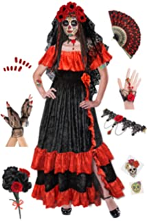 b80ac3f4557 Amazon.com  Fun World Women s Dia De Los Muertos Plus Size Costume ...