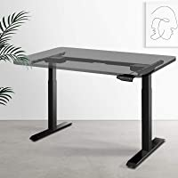 Artiss Height Adjustable Standing Desk Frame Motorised Electric Heavy Duty Dual Motors Home Office Workstation Black…