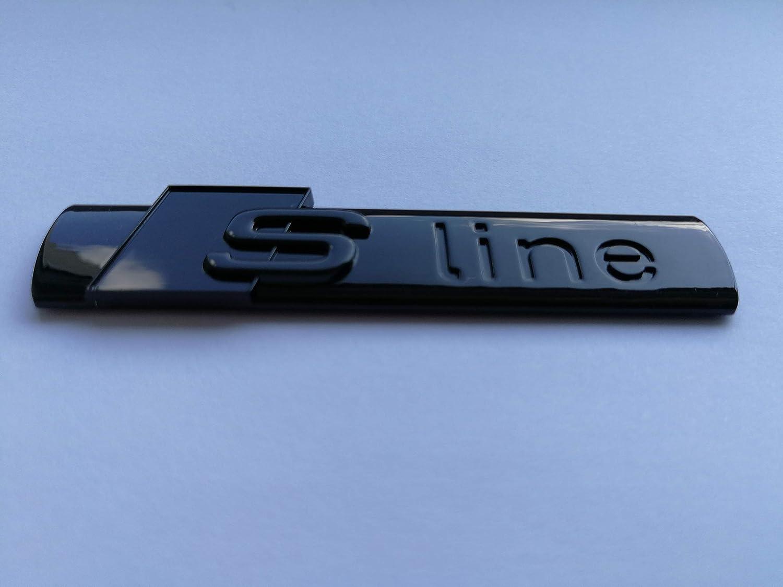 Full Gloss Black Sline Wing Badge A1, A2, A3, A4, A5, A6, A7, A8, TT, Q3, Q5, Q7, Q8 etc.