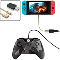 FYOUNG Controller Converter for Nintendo Switch, Support for PS3/PS4/XBOX ONE/XBOX 360 Controller (Support TV Mode & Handheld Mode) with Type-C OTG Cable