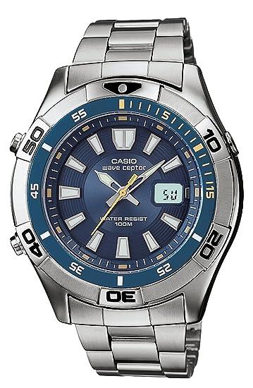 Casio WVQ142DA-2AV - Reloj de Pulsera Hombre, Acero Inoxidable, Color Plata: Casio: Amazon.es: Relojes