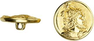 product image for C&C Metal Products 5025 Devonshire Metal Button, Size 45 Ligne, Gold, 36-Pack