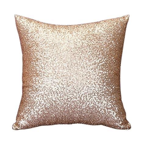 Amesii Lentejuelas funda de almohada de pure color sofá ...