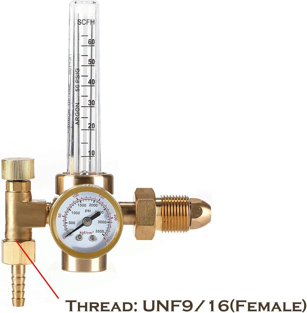 Argon CO2 Mig Tig Flow Meter Welding Regulator with Flowmeter CGA580 CGA-580