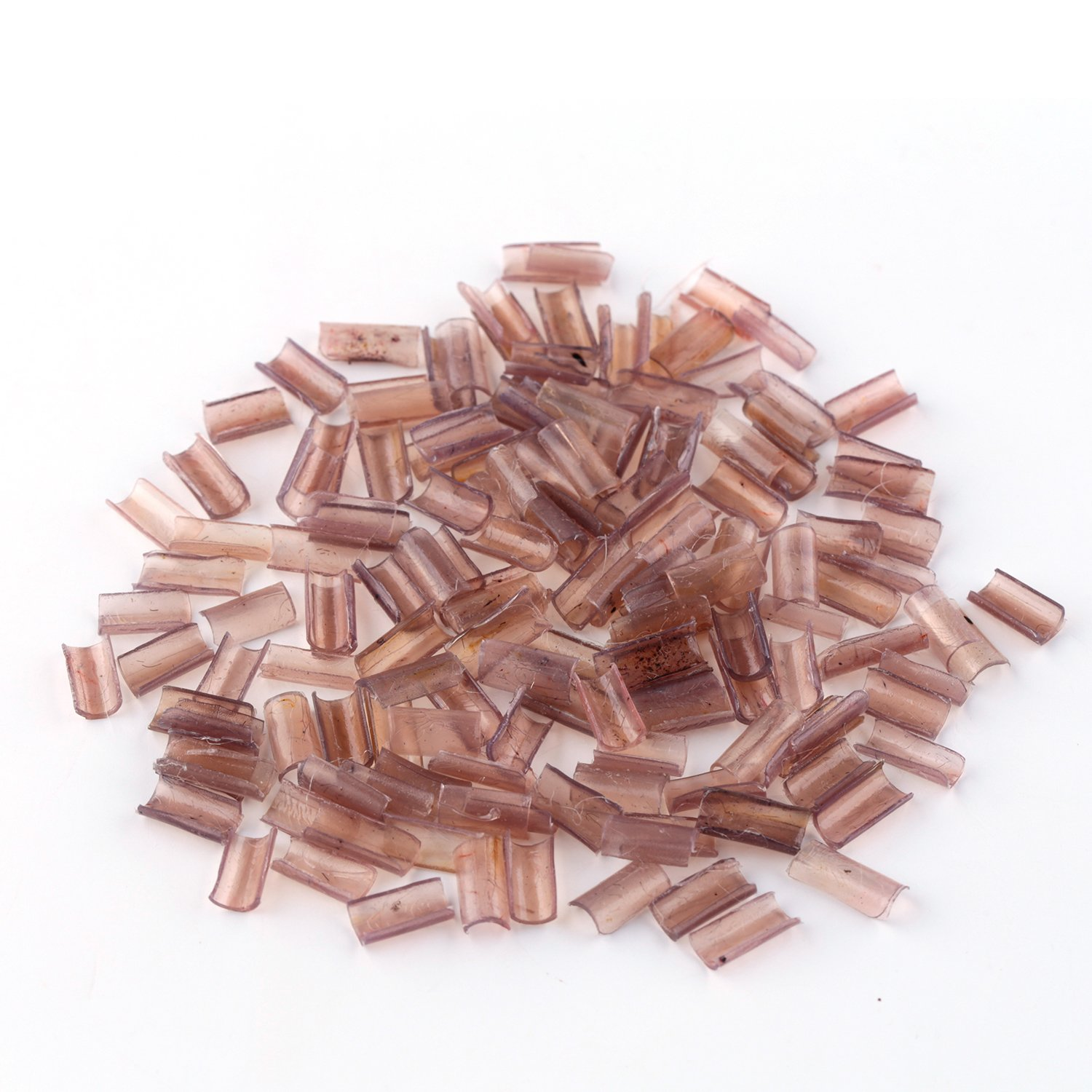 50PCS Keratin Fusion Nail U Tips Granules Glue Rebonds for U/Nail Tip Hair Extensions (Black) Haoshan