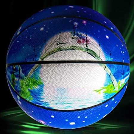 Baloncesto, Baloncesto De Fluorescencia, Luminoso No 7 Único ...