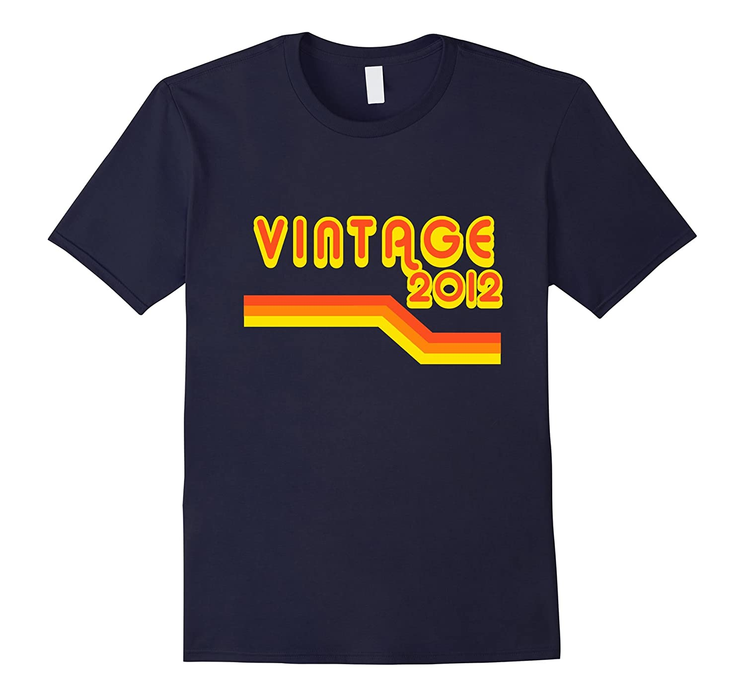 2012 Retro Pop Vintage T-Shirt 5 yrs old Bday 5th Birthday-CL