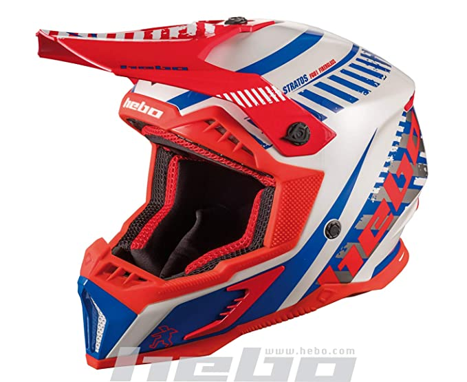 Hebo MX Stratos Casco Enduro, Adultos Unisex, Blanco, Small: Amazon.es: Deportes y aire libre