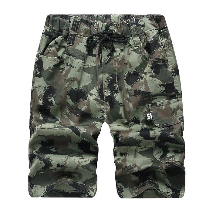 28b13873a YoungSoul Pantalones cortos de camuflaje para niño, Bermudas de verano,  Shorts militar de cargo multibolsillos Verde 11-12 años: Amazon.es: Ropa y  ...