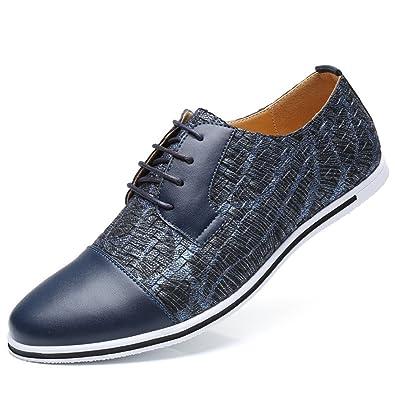 Lederschuhe Herren, Oxfords Schnürer Atmungsaktiv Leichte Modische Schuhe Anzug Schuhe