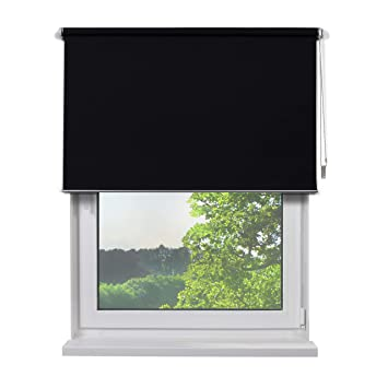 Fensterdecor Fertig Verdunkelungsrollo/Schwarz 140 x 180 cm (BxH)