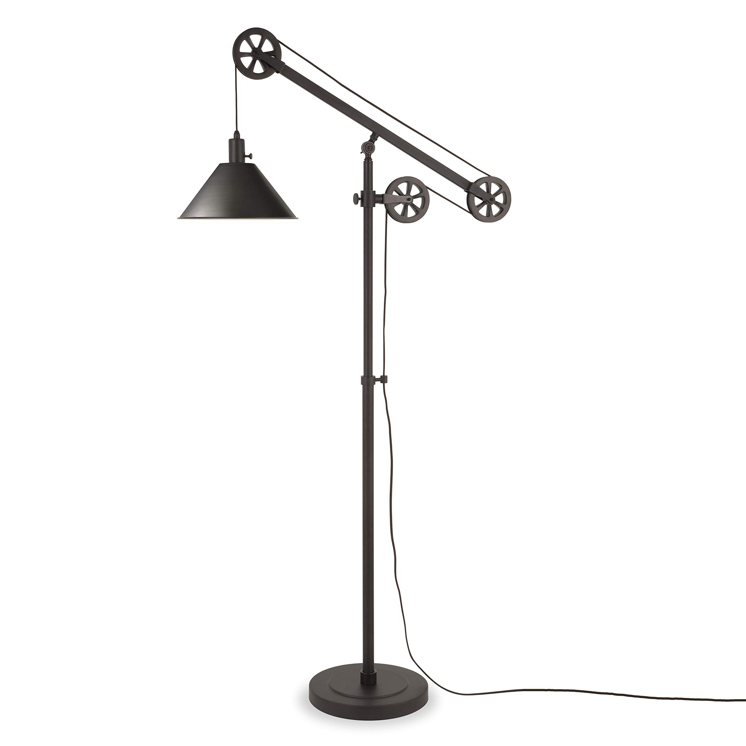 Henn&Hart FL0022 Counterweight Pulley Lamp One Size Black