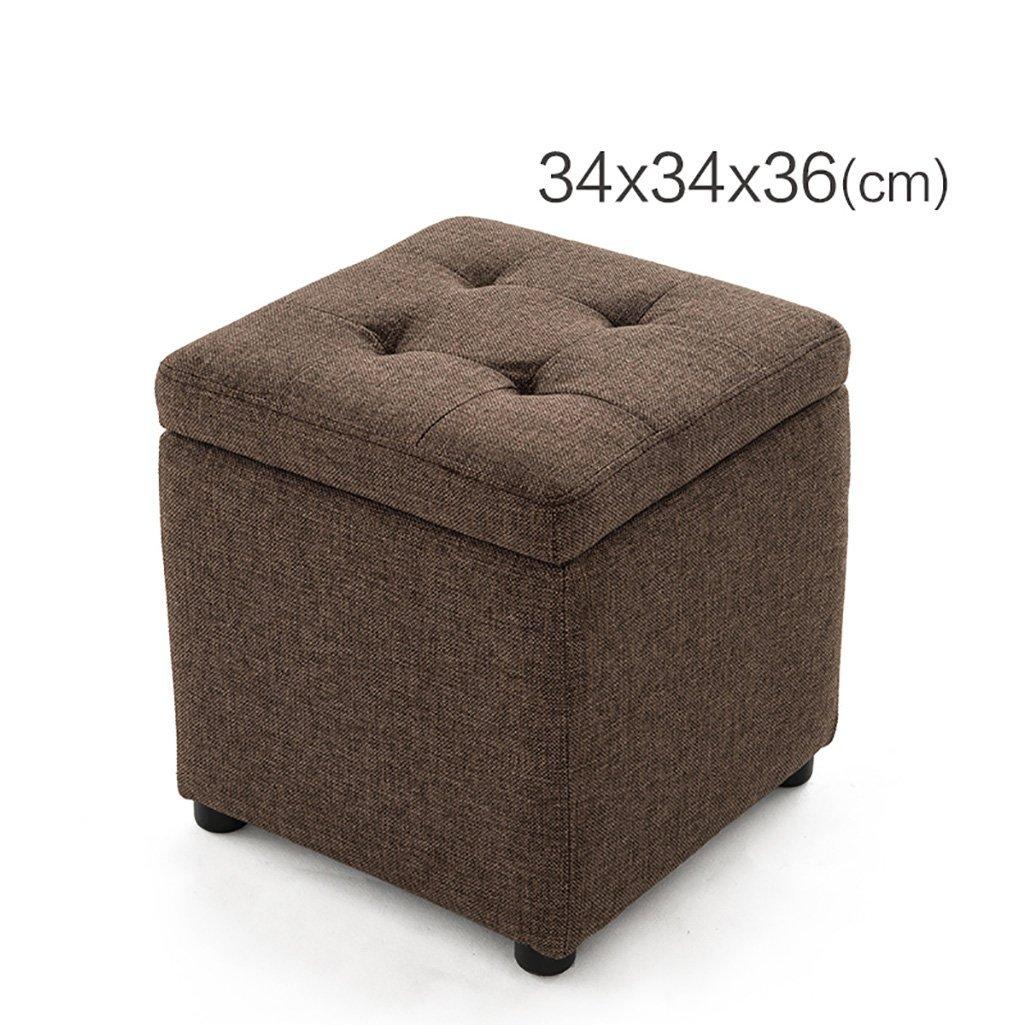 B 343436cm MONFS HOME Admission stool bench stool Dianzi sofa stool storage stool stool footstool - small stool (color   D, Size   34  34  36cm)