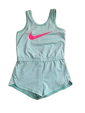 3f9e2fd3a98d NIKE Infant Toddler Girls Dri-Fit Sports Romper Dark (Green Pin Stripe