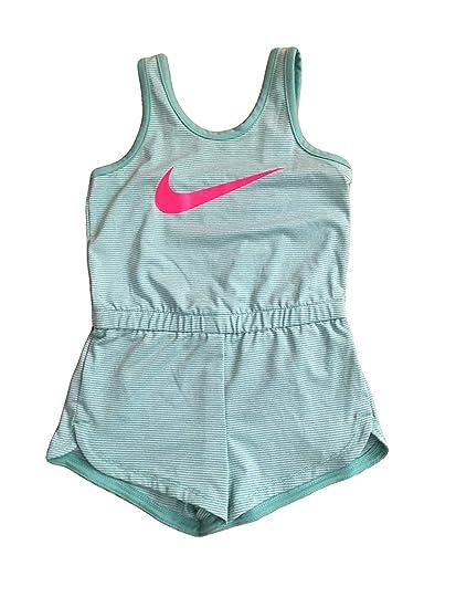 ff091b73f Amazon.com: Nike Infant Toddler Girls Dri-Fit Sports Romper Dark (Green Pin  Stripe, 4T): Clothing