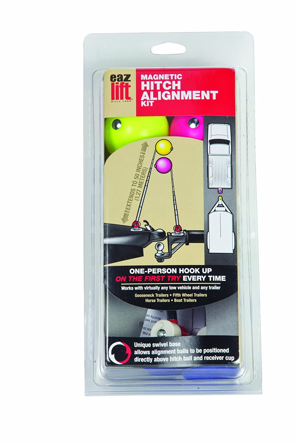 Camco Magnetic Hitch Alignment Kit System Works With Virtually Any Tow Vehicle and Trailer - Helps You Align Your Hitch 44603 Each Guide Extends Up To 50 for Easy Viewing