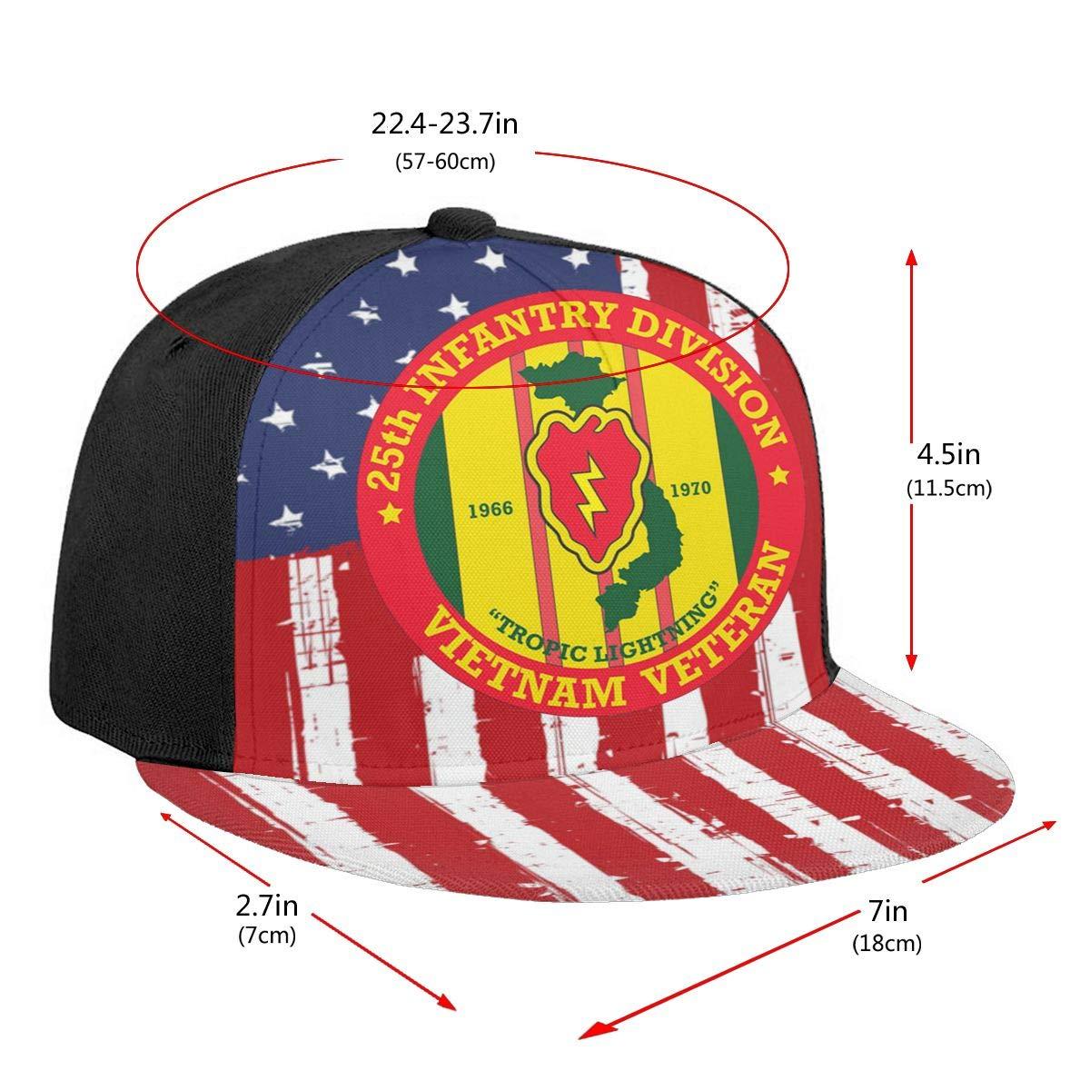 25th Infantry Division Vietnam Veteran Unisex Adult Hats Classic Baseball Caps Peaked Cap