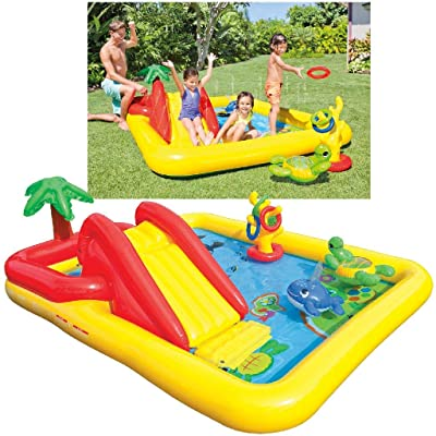 "Intex Ocean Inflatable Play Center, 100"" X 77"" X 31"", for Ages 2+: Toys & Games"