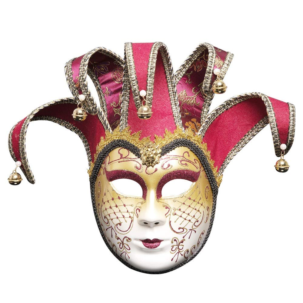 Venetian Mask, Full Face Joker Masquerade Theater Mask Chinese Party Ball Mask Full Face Joker Masquerade Theater Mask Chinese Party Ball Mask (Black) Vanvler ❤ Mask